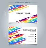 Szablon imię karty linii halftone abstrakcjonistyczny kolorowy zaokrąglony tran royalty ilustracja