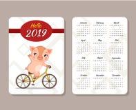 Szablon kalendarz ilustracja wektor