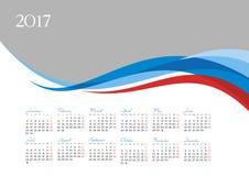 Szablon 2017 kalendarz Obrazy Royalty Free