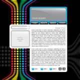 szablon kolorowa strona internetowa Zdjęcia Stock