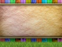 Szablon - kolorowy ogrodzenie Obrazy Royalty Free