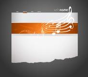 szablon muzykalna strona internetowa ilustracja wektor