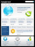 szablon nowożytna strona internetowa Obraz Stock