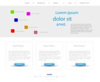 szablon nowożytna strona internetowa Zdjęcia Stock