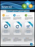 szablon nowożytna strona internetowa Obrazy Stock