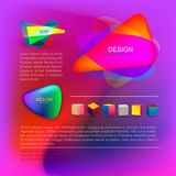 szablon projektu abstrakcyjne plakat Wektorowa ilustracyjna ulotka Okładkowy skład geometryczni kolorowi kształty Dla twój biznes royalty ilustracja