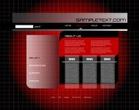 szablon strona internetowa Zdjęcie Stock