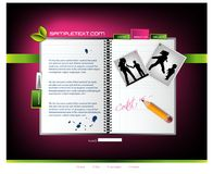 szablon strona internetowa Obrazy Stock