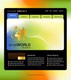 szablon strona internetowa Zdjęcia Stock