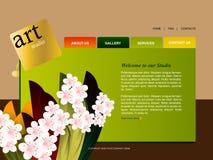 szablon strona internetowa Obrazy Royalty Free