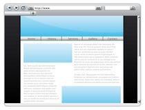 szablon strona internetowa Fotografia Stock