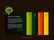 szablon strona internetowa Obraz Stock