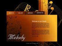 szablon strona internetowa Fotografia Royalty Free
