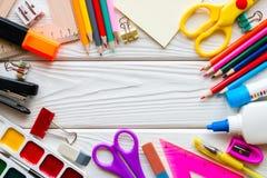 Szablon szkolne dostawy Obrazy Royalty Free