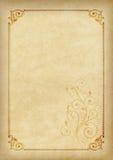 Szablon, tło z strukturą i dekoracyjny element na kawałku pergamin, Obraz Royalty Free