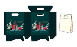 Szablon torby dla kosmetyków Zdjęcia Royalty Free