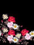 Szablon z pięknymi kwiatami dla witać lub zaproszenia kart z przestrzenią dla teksta Druk dla plakata, pokrywa Kwiecisty wektor royalty ilustracja