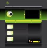 szablon zielona strona internetowa Zdjęcia Stock
