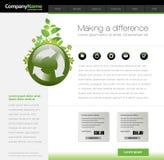 szablon zielona strona internetowa Obrazy Stock