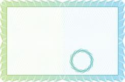 Szablonu świadectwo, waluta i dyplomy. Zdjęcie Royalty Free
