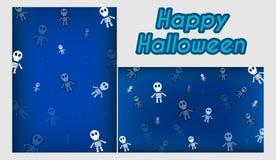Szablonu festiwal Halloweenowy i Bezszwowy Fotografia Stock