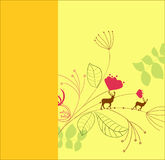 szablonu karciany kolor żółty Zdjęcie Stock
