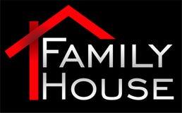 Szablonu logo rodziny domu redaktor zdjęcie royalty free