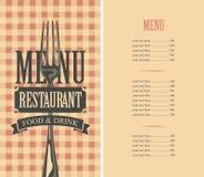 Szablonu menu z ceną ilustracji