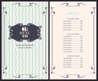 Szablonu menu z ceną ilustracja wektor