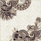 szablonu ornamentacyjny rocznik Obraz Royalty Free