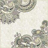 szablonu ornamentacyjny rocznik Zdjęcie Royalty Free