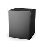 Szablonu pakunku czarny kartonowy pudełko dla kosmetycznego produktu isola royalty ilustracja