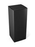 Szablonu pakunku czarny kartonowy pudełko dla kosmetycznego produktu isola Obraz Stock