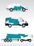 Szablonu pojazd dla reklamować, oznakować lub korporacyjna tożsamości, Obrazy Royalty Free