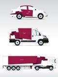 Szablonu pojazd dla reklamować, oznakować lub korporacyjna tożsamości, Fotografia Stock