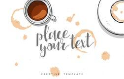 Szablonu projekta pojęcia nakreślenia ilustracja dla marketingu Pojęcia mockup Zdjęcie Royalty Free
