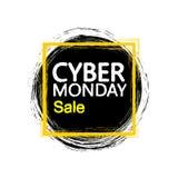 Szablonu projekta sztandar dla cyber Poniedziałku oferty Obrazy Stock