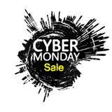 Szablonu projekta sztandar dla cyber Poniedziałku oferty Fotografia Royalty Free