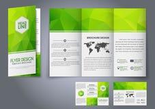 Szablonu projekta trzy fałdu ulotka, broszurka Fotografia Royalty Free
