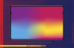 Szablonu realistyczny czarny komputerowy monitor na colour tle Płaska ilustracja Eps 10 ilustracja wektor