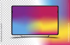 Szablonu realistyczny czarny komputerowy monitor na przejrzystym tle i colour Płaska ilustracja Eps 10 royalty ilustracja