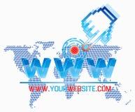 szablonu sieci szeroki świat Fotografia Stock