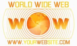 szablonu sieci szeroki świat Zdjęcia Stock