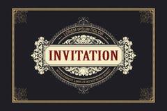 Szablonu ulotka, zaproszenia lub kartka z pozdrowieniami, royalty ilustracja