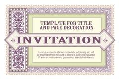 Szablonu ulotka, zaproszenia lub kartka z pozdrowieniami, ilustracja wektor