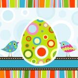 Szablonu Wielkanocny kartka z pozdrowieniami, wektor Zdjęcia Stock