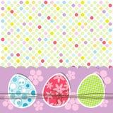 Szablonu Wielkanocny kartka z pozdrowieniami, wektor Obraz Royalty Free