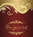 szablonu złoty rocznik Obrazy Royalty Free