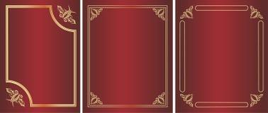 szablonu złoty rocznik obraz royalty free