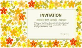 Szablonu zaproszenie jasnozielony tło Fotografia Stock